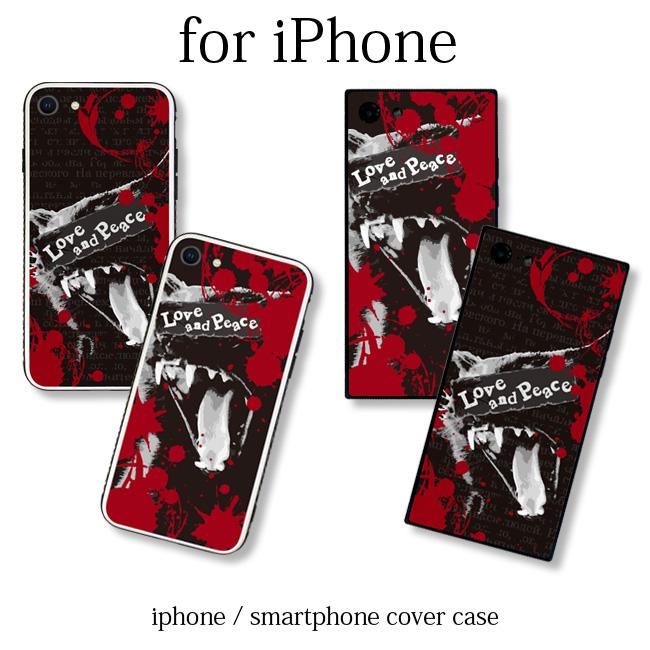 【ルナティックキャットイズム】[強化ガラススマホケース]血飛沫と黒猫-SCREAM-CAT[iPhone]