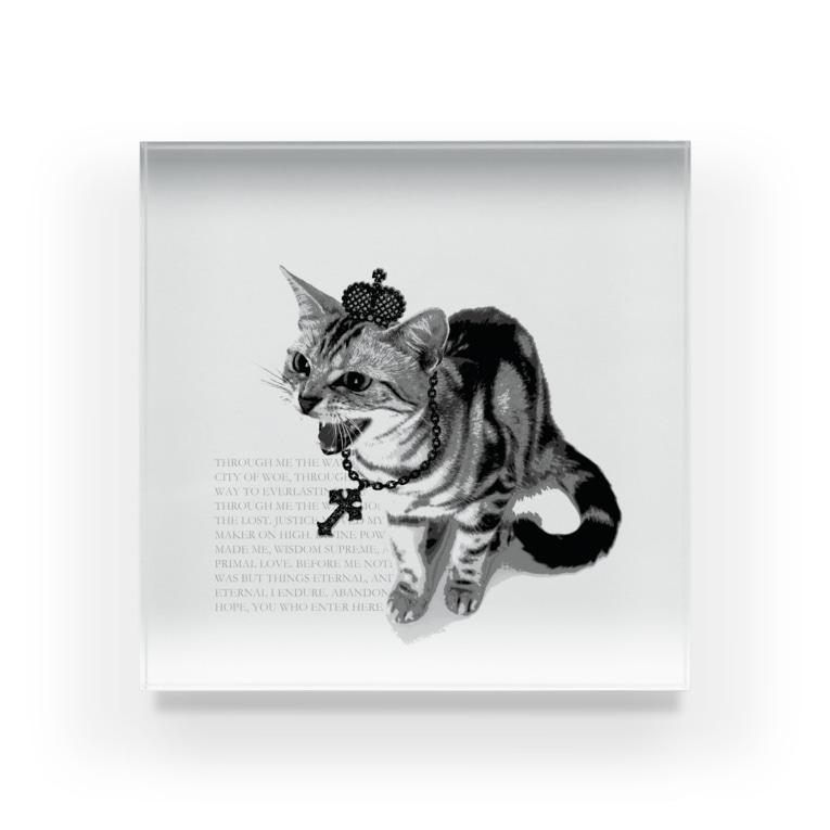 【ルナティックキャットイズム】【SUZURI限定】[アクリルブロック]シャーという猫-PUNK-CATitem_image_2