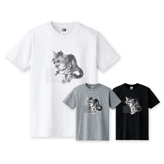 【ルナティックキャットイズム】[半袖Tシャツ]シャーという猫-PUNK-CAT[メンズ/レディース/キッズサイズあり]