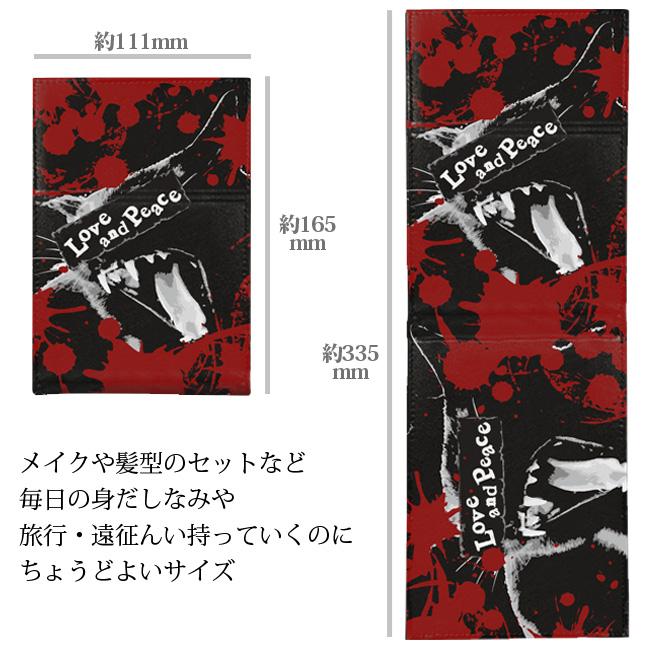【ルナティックキャットイズム】[折りたたみスタンドミラー]血飛沫と黒猫-SCREAM-CAT[PUレザー]item_image_2