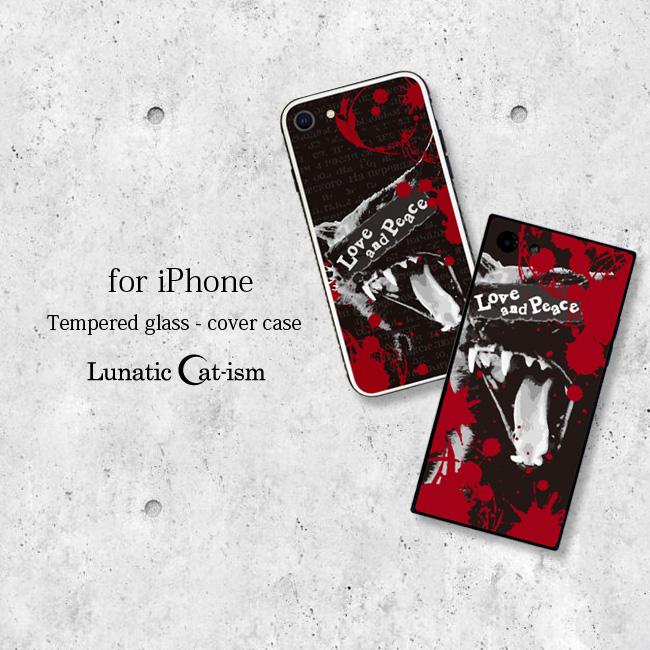 【ルナティックキャットイズム】[強化ガラススマホケース]血飛沫と黒猫-SCREAM-CAT[iPhone]item_image_1