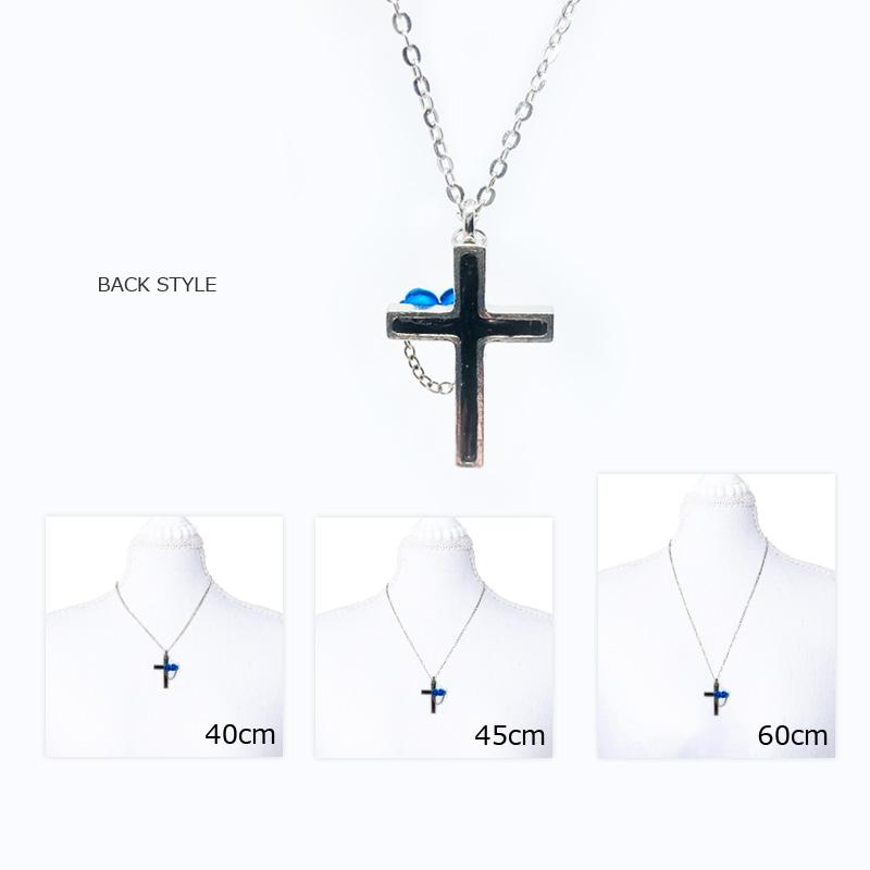 【ルナティックキャットイズム】青薔薇と十字架のゴシックネックレスitem_image_3