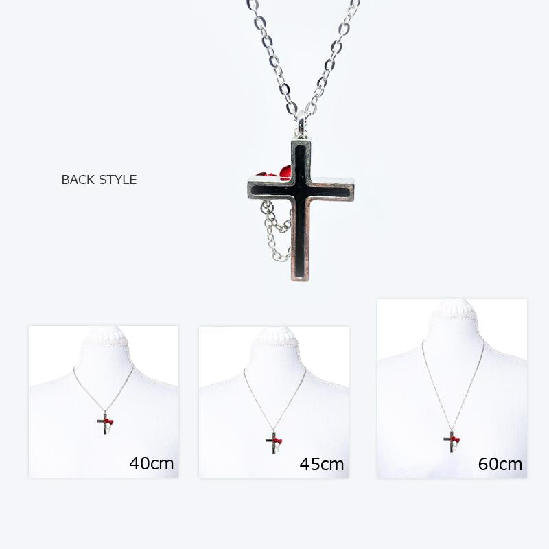 【ルナティックキャットイズム】赤薔薇と十字架のゴシックネックレスitem_image_3