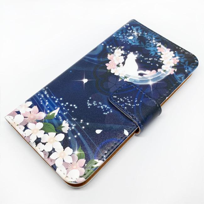 【ルナティックキャットイズム】[手帳型スマホケース]桜と猫~宵ノ顔-藍色-和ファンタジー[iPhone/Android]item_image_8