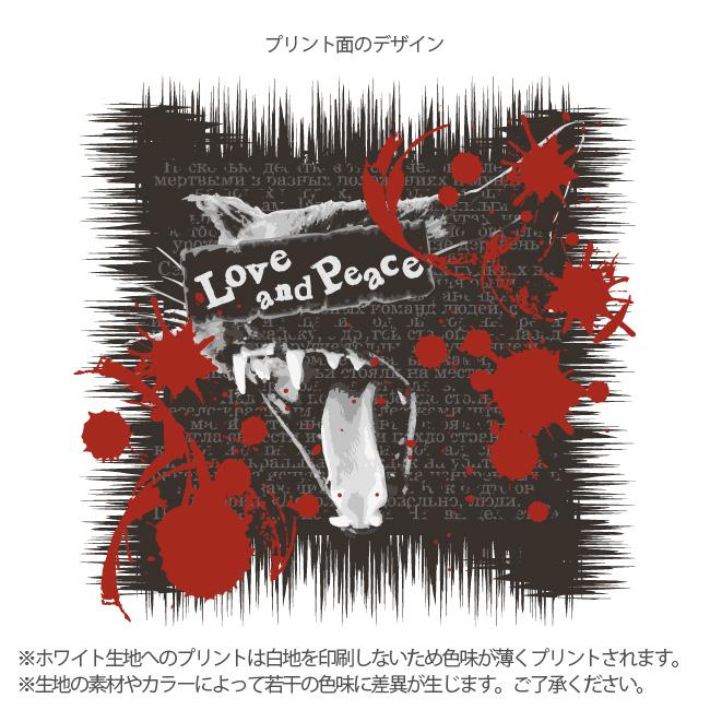【ルナティックキャットイズム】[長袖Tシャツ]Love and Piece…血飛沫と黒猫 NEKO-T [ロングスリーブ]item_image_4