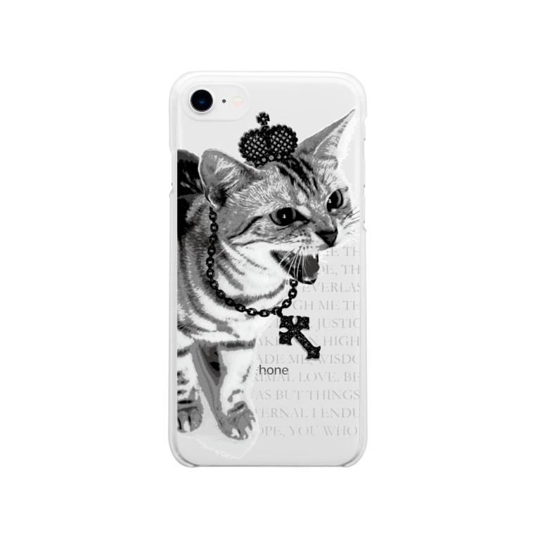 【ルナティックキャットイズム】【SUZURI限定】[スマホケース]シャーという猫-PUNK-CAT[iPhoneソフトケース]