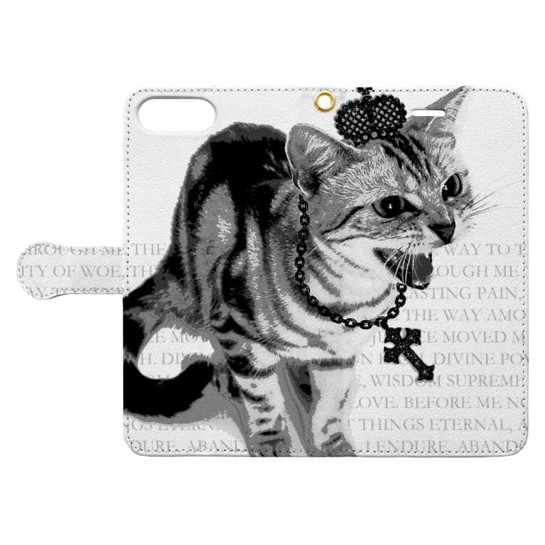 【ルナティックキャットイズム】【SUZURI限定】[手帳型スマホケース]シャーという猫-PUNK-CAT[iPhone]item_image_3